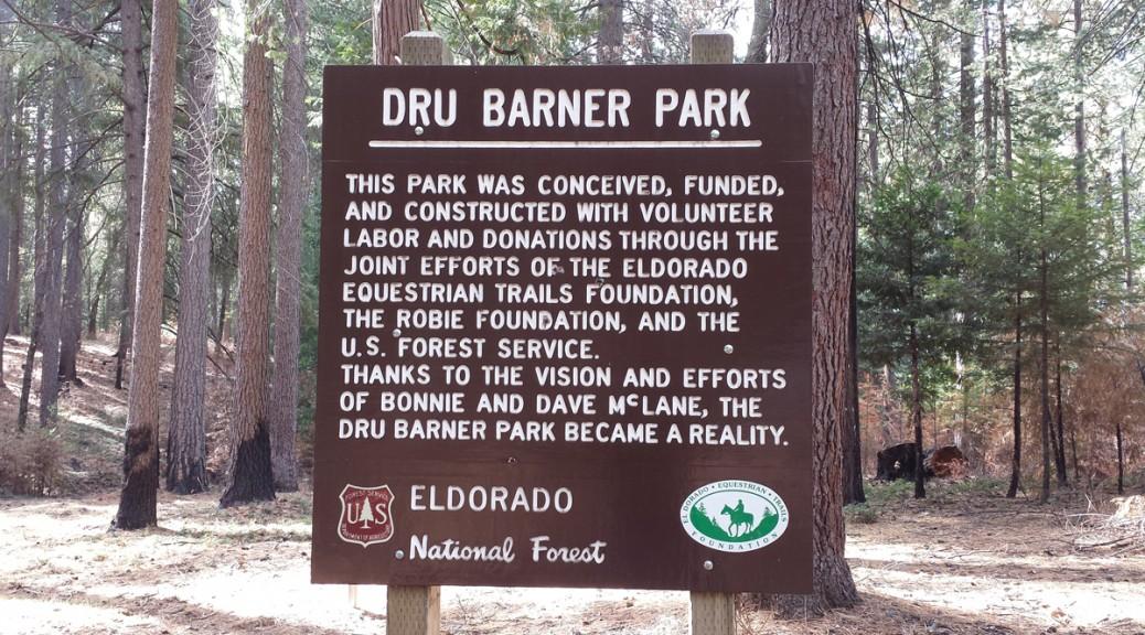 Dru Barner Park sign