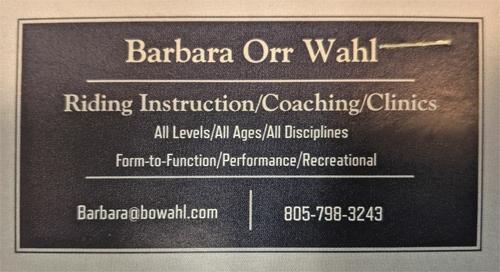 Barbara Orr Wahl