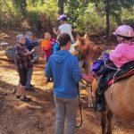 Kids starting their ride