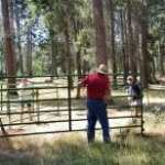 Installing new corrals!
