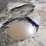 Pot hole - before