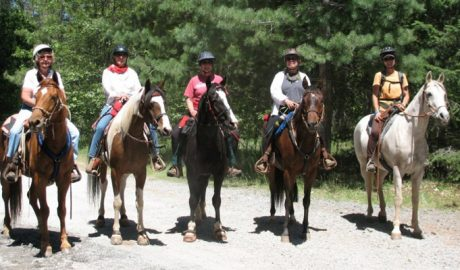 Riders in a row